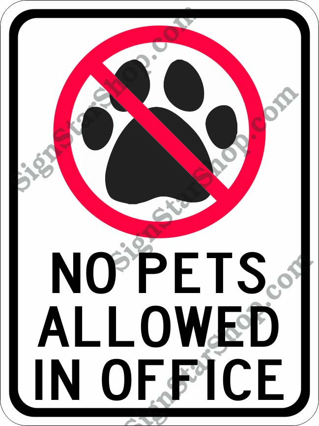 no pets dogs allowed 9 x12 sign signs from grand awards at sign